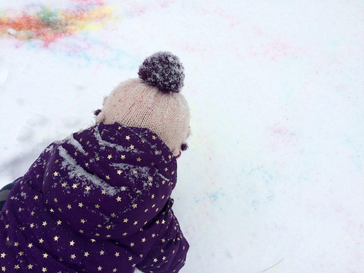 Snow Painting April 6