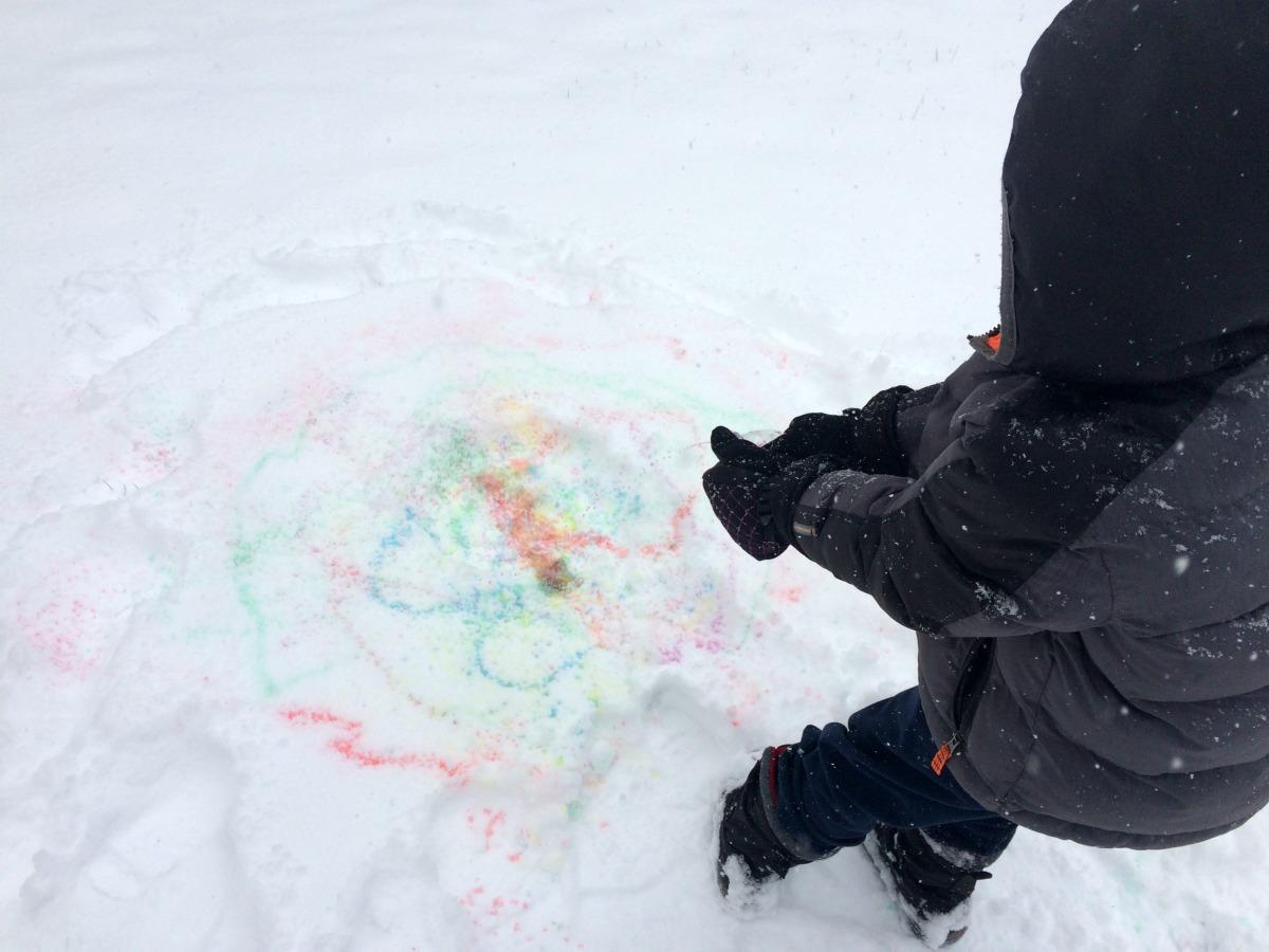 Snow Painting April 9