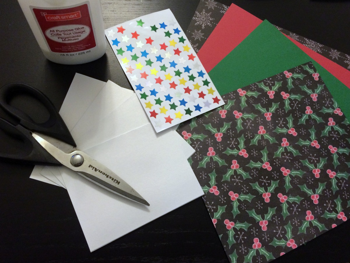 Super easy Christmas card craft project 1