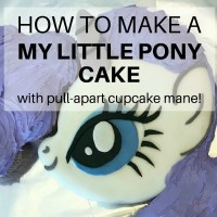 How to make a My Little Pony cake with pull-apart cupcake mane