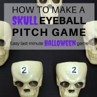 How to make an easy Skull Eyeball Pitch Halloween game