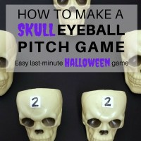How to make an easy Skull Eyeball Pitch Halloween game