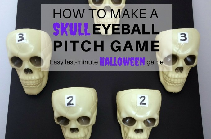 How to make a Skull Eyeball Pitch game - Featured Image