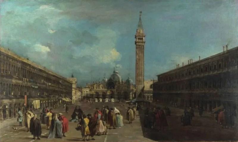 フランチェスコ・グアルディ 《ヴェネツィア:サン・マルコ広場》 1760年頃