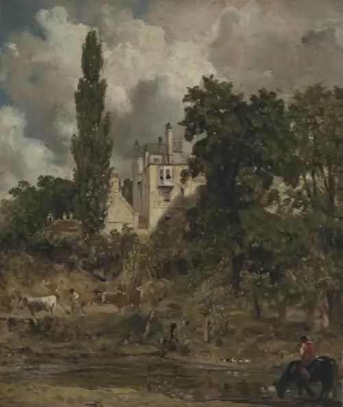 コンスタブル-《ザ・グローヴの屋敷、ハムステッド》