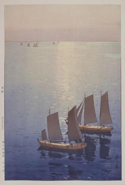 吉田博《瀬戸内海集 光る海》