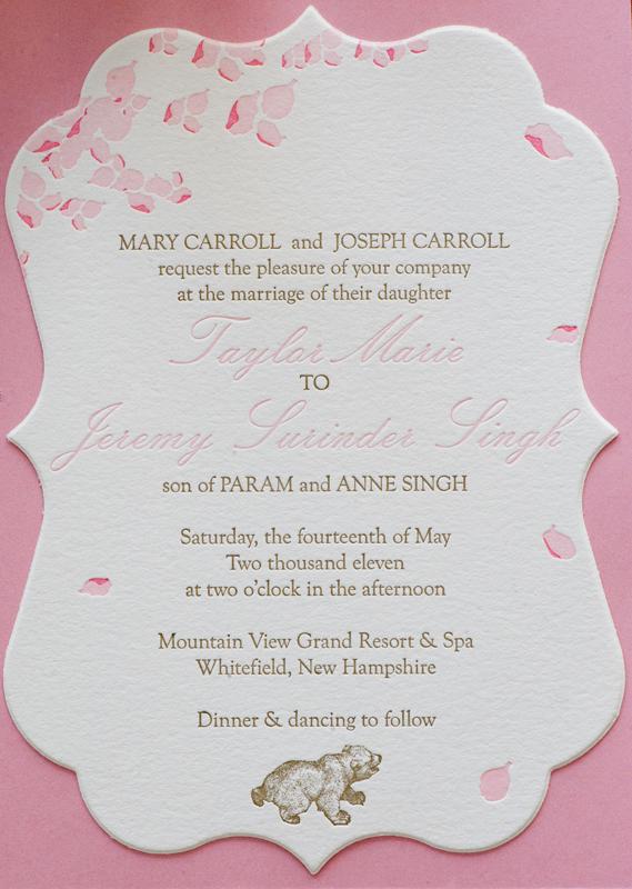Funeral Reception Invitation Example 1