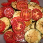 Sliced Eggplant & Tomatoes