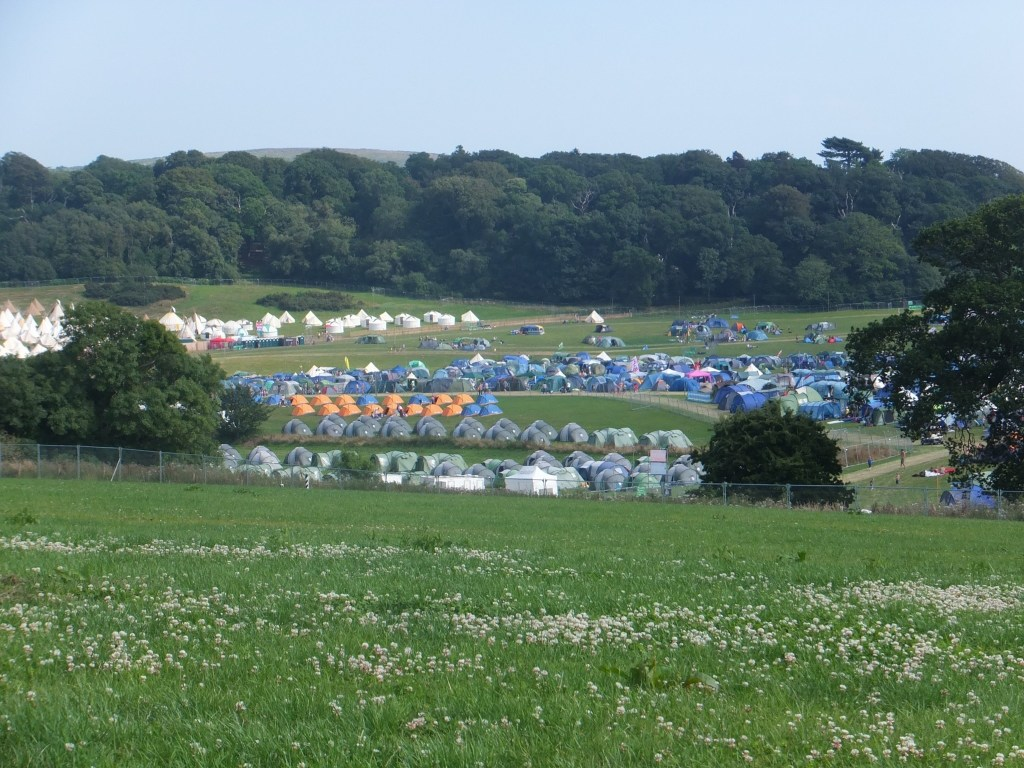 tents at camp bestival
