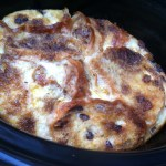 Slow Cooker Hot Cross Bun & Butter Pudding