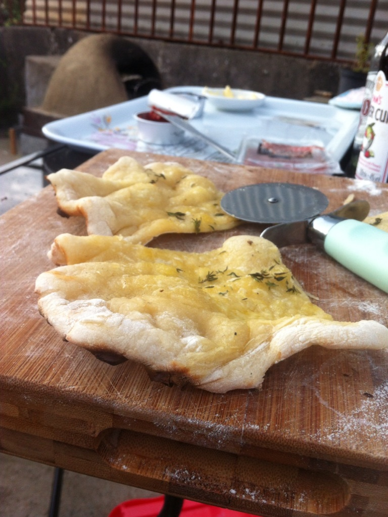 Homemade Garlic flatbread