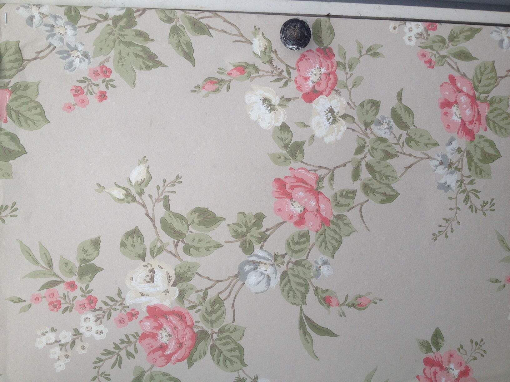 Covering furniture with wallpaper