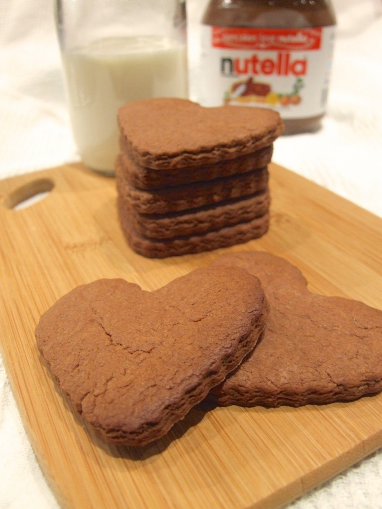 nutella shortbread hearts