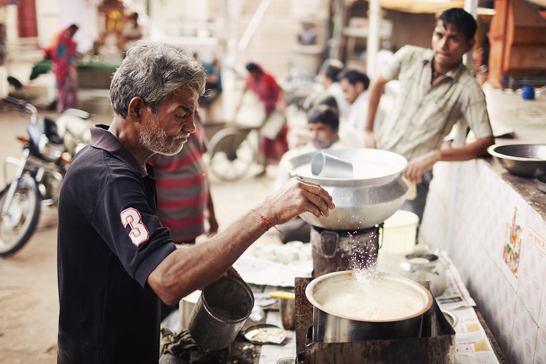 making Chai India