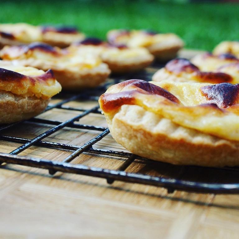 creme patisserie baked tarts