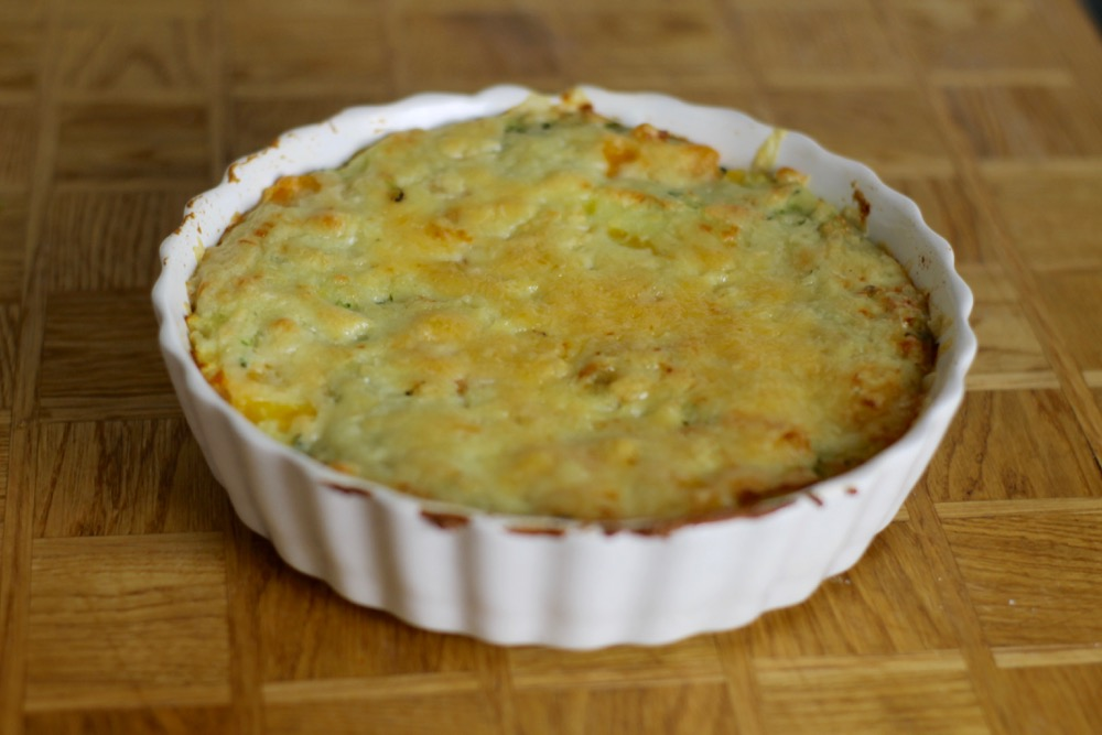 veggie cheese bake - power of frozen