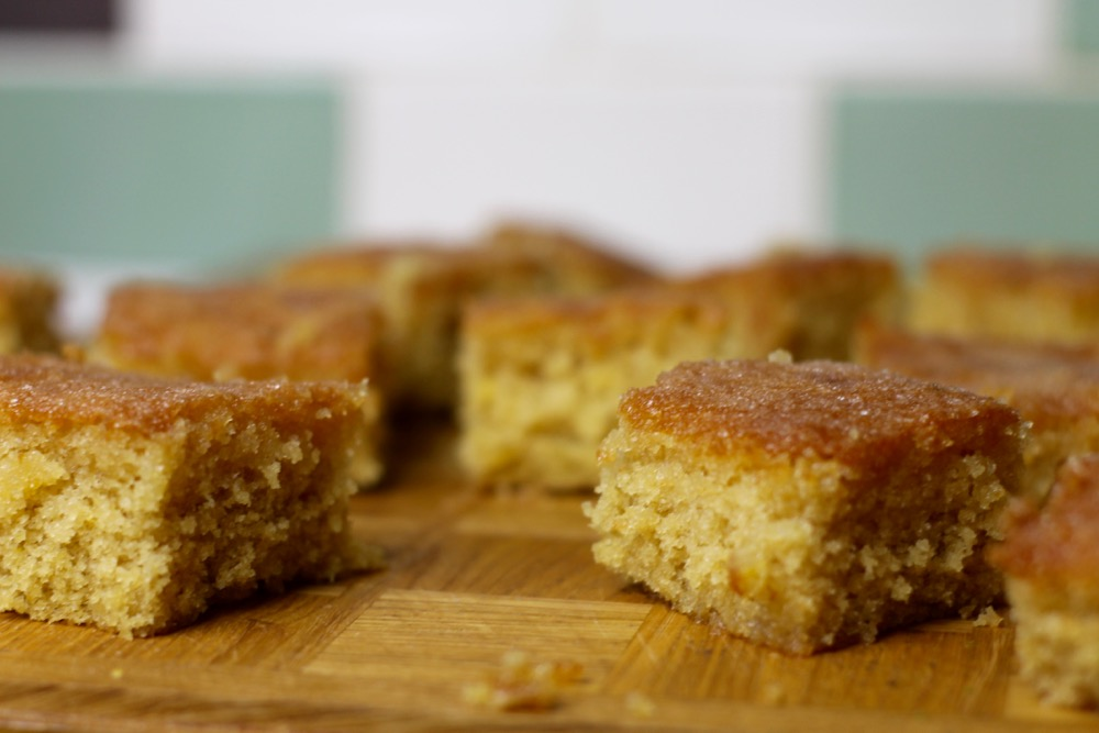 lemon and lime drizzle traybakes