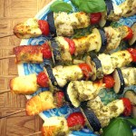 Halloumi & Chicken Pesto Kebabs
