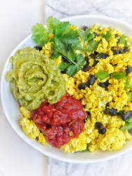 Tofu Scramble with guac and salsa