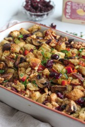 Vegan Stuffing with Mushrooms