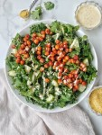 BBQ Ranch Chickpea Kale Salad