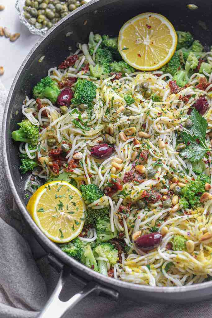 Angel Hair Pasta with Sun-Dried Tomatoes and Olives