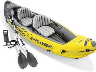 Kayak hinchable Intex Explorer K2 con 2 remos 312 x 91 x 51cm