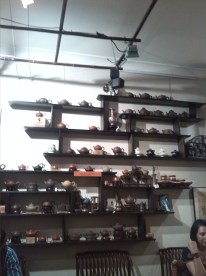 hundreds of different teapots