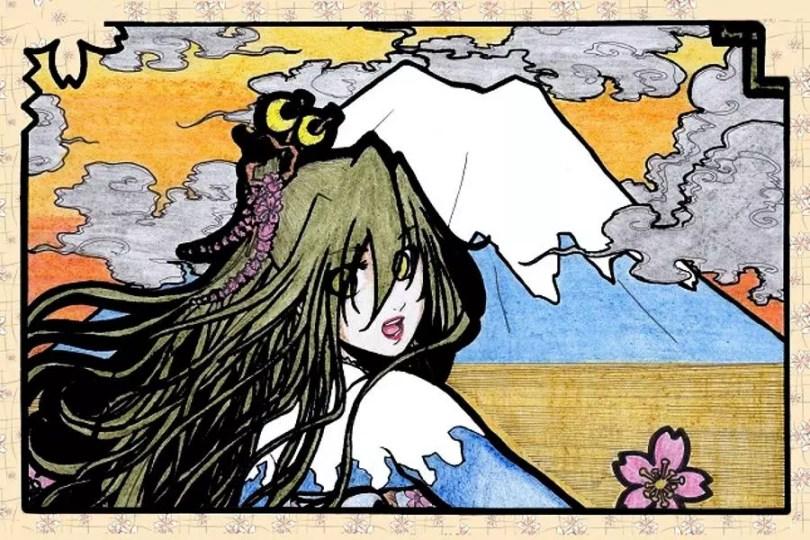 Deusa do Fuji | Arte de Rhaine Elric
