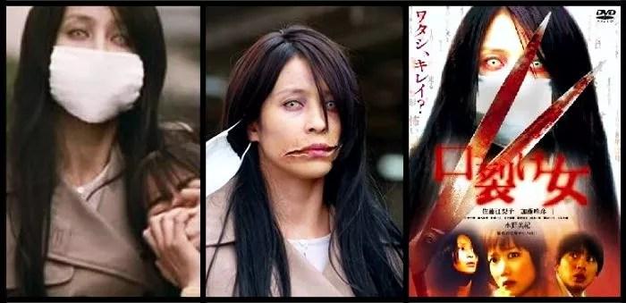 Filme 'Kuchisake-onna' do diretor Koji Shiraishi (Fotos: Divulgação / Edição Mundo-Nipo)