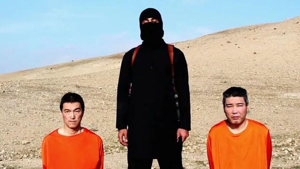 Dois japoneses são mantidos como reféns por militantes do Estado Islâmico (Imagem: Reprodução/YouTube/Edição MN)