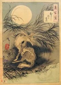 """""""O choro da Kitsune"""". Obra do artista Yoshitoshi Tsukioka (Foto: Acervo Yoshitoshi Tsukioka )"""