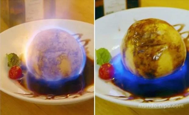 Tempura de Sorvete Flambado (Foto: Mundo-Nipo/Restaurante Tanaka)