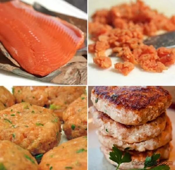 Hambúrguer de salmão (Foto: Montagem Mundo-Nipo)