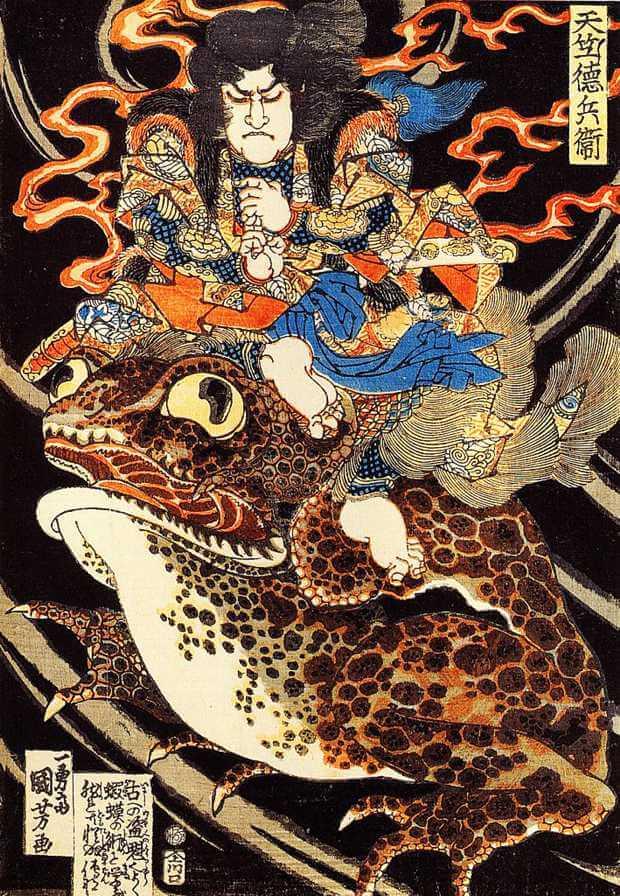 Gama-no-sennin, por Utagawa Kuniyoshi (Foto: Reprodução/Livro Mitos e Lendas do Japão)