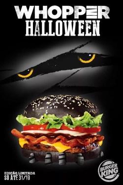 Hambúrguer preto do Burger King (Divulgação)