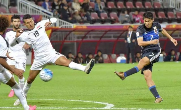 Japão vence Iraque e garante vaga nas Olimpíadas do Rio (Foto: Kyodo)