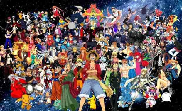 Personagens de animes e mangás japoneses (Foto: Montagem/Melissa@aime_lover_yas
