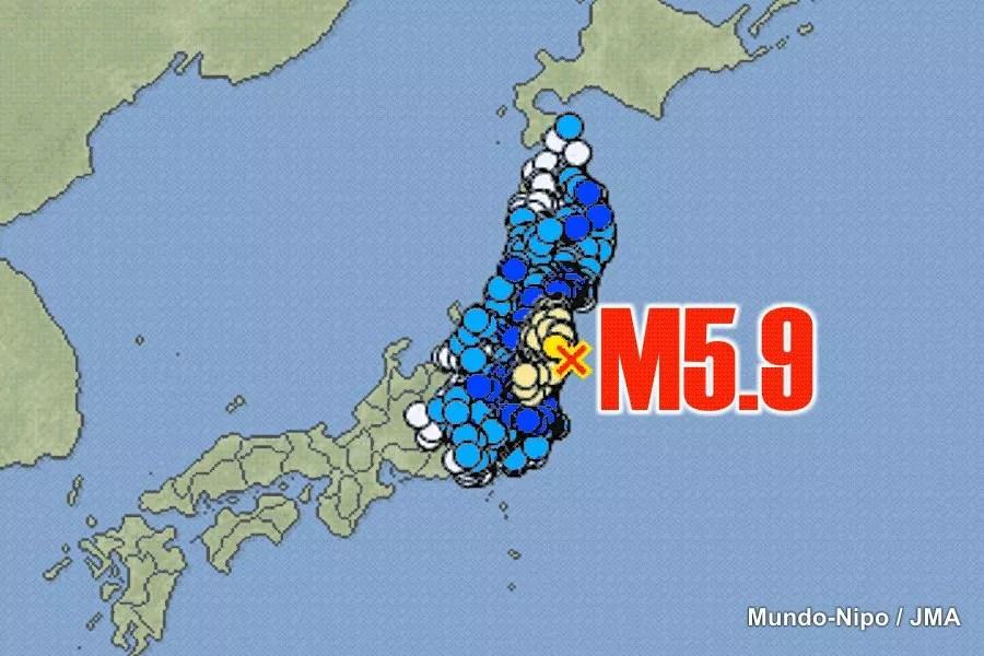 Sismo de 5,9 na escala de Richter abala Japão