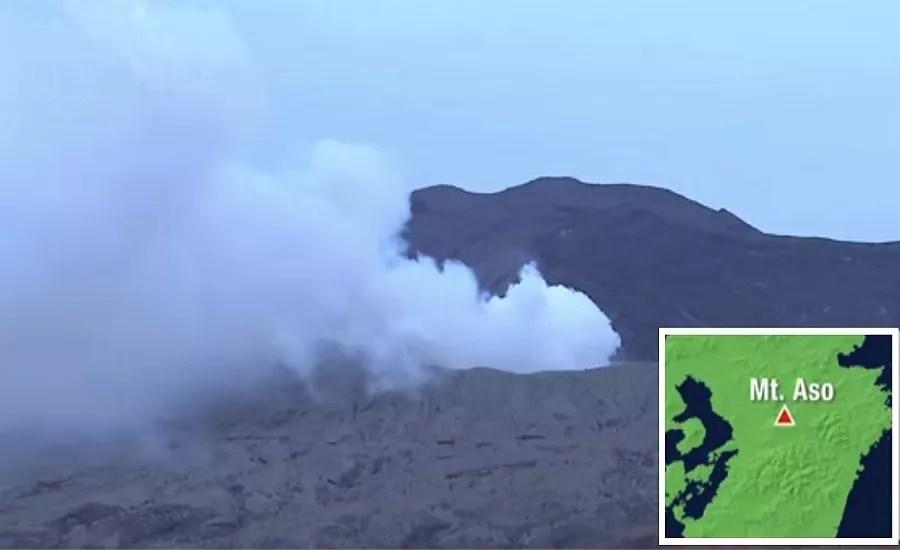 Um dos maiores vulcões do Japão entra em erupção