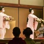 Gueixas ensaiam dança para o maior festival de primavera em Quioto