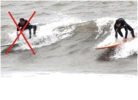 respetar las prioridades en surf