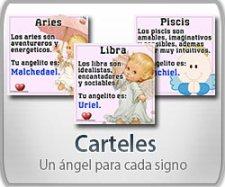 Carteles un ángel para cada signo