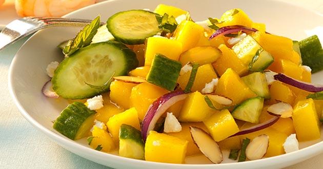 Receta de ensalada de mango y pepino