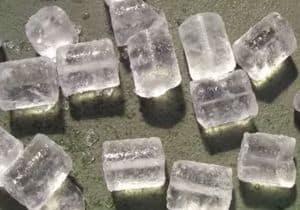 cubos de gelo remédio