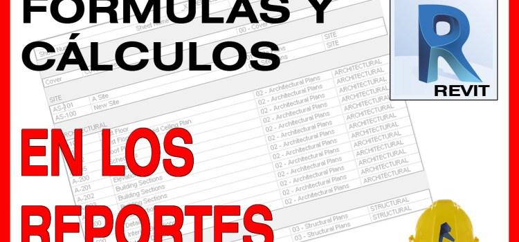 revit campos calculados schedules