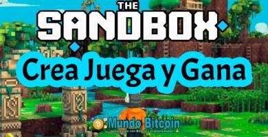 sandbox game, crea juega y gana dinero, en el metaverso de the sandbox