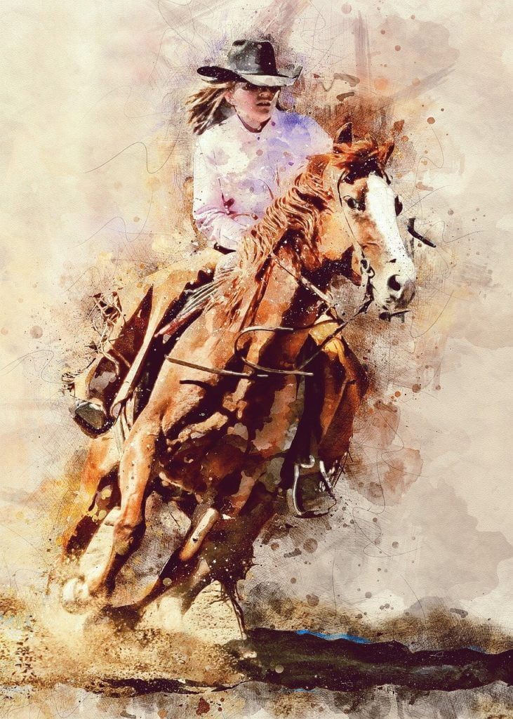 rodeo, cowgirl, girl