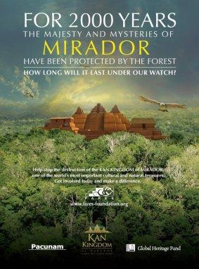 Poster de Reino KAN - El Mirador. Mas de 200 sitios arqueologicos. Nuevo al mundo moderno. Existio como 700 años