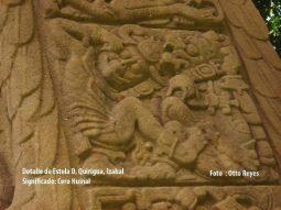 El detalle de la Estela D de Quirigua - foto por Otto Reyes.
